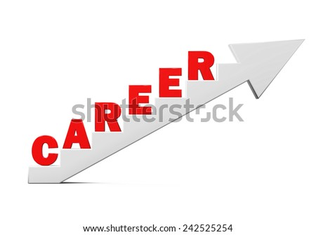 "Staircase with ""Career"" Text - stock photo"