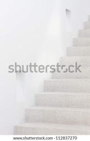 staircase with lamp in modern interior - stock photo