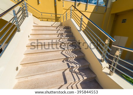 Stairs and rails.