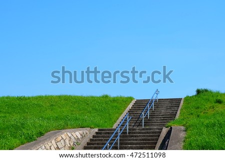Stairs and sky