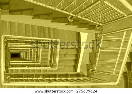 stairs down landscape in a building, closeup of photo  - stock photo