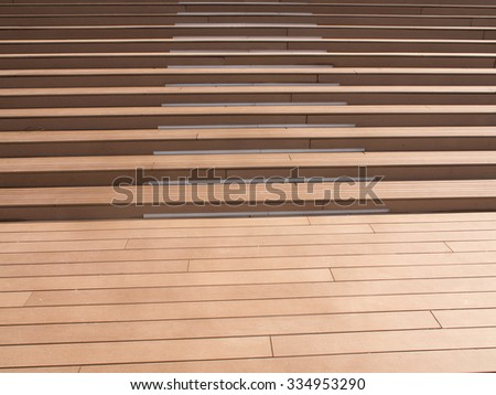 stairs from boards - stock photo