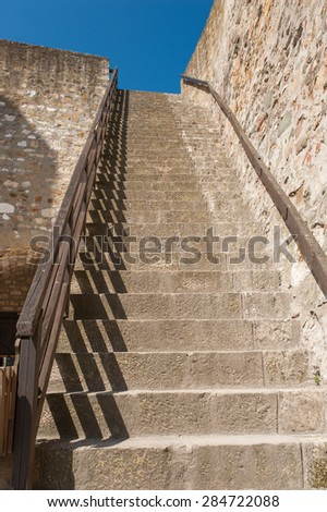 Stairs in fortress