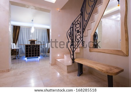 stairs in modern interior - stock photo