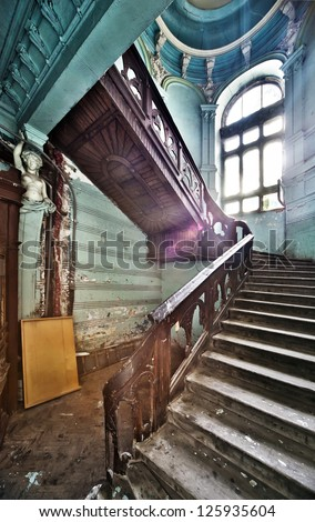 Stairs in Odessa ancient building - stock photo