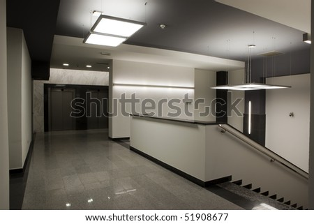 stairs in office building - stock photo