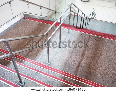 stairs in the buildings - stock photo