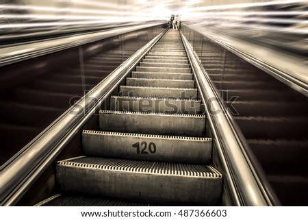 stairs in the metro