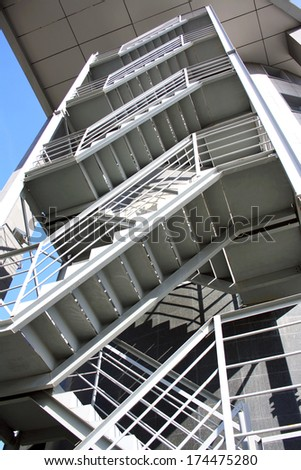 stairs outdoors business centre - stock photo