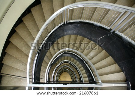 stairs perspective - stock photo