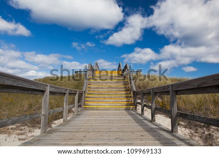 Stairs to heaven, Crane beach, Massachusetts, USA