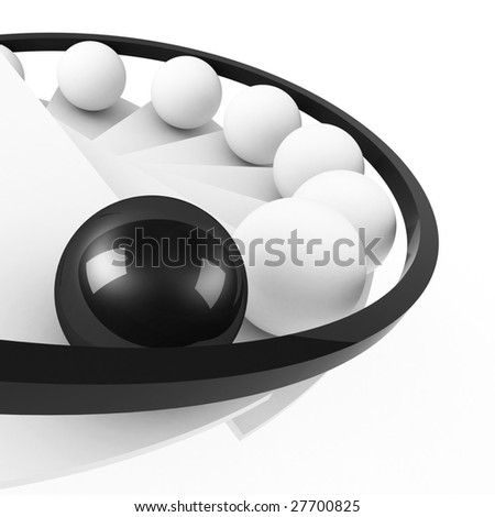 stairs to success leadership concept black - stock photo