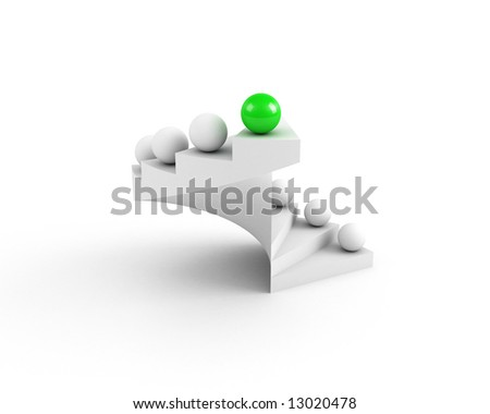 stairs to success. leadership concept. open - stock photo