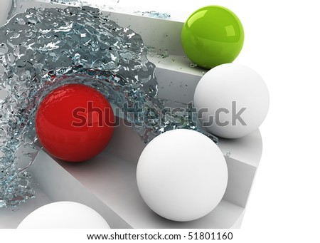 stairs to success losing leadership concept - stock photo