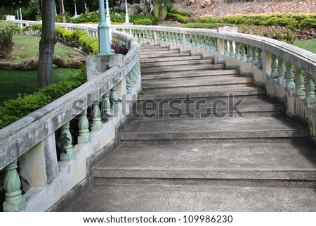 Stairs to the temple - stock photo