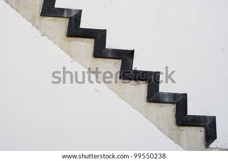 stairway as background - stock photo