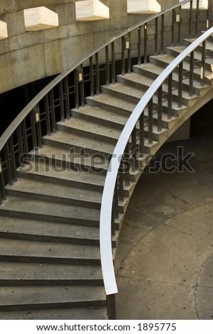 Stairway, Dilworth Plaza, Philadelphia, PA - stock photo