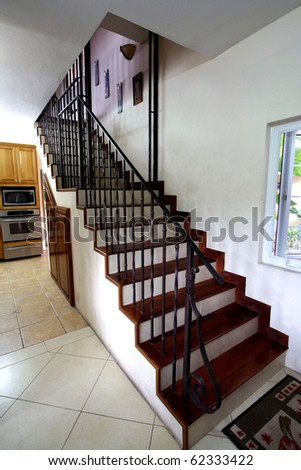 stairway in home - stock photo