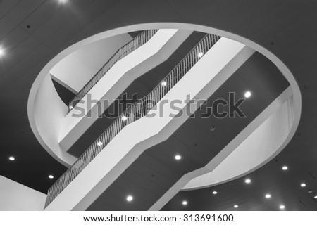 stairway in modern interior - stock photo