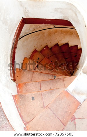 Stairway in Thailand Palace - stock photo