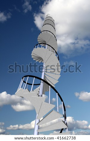 Stairway to skyhigh success - stock photo
