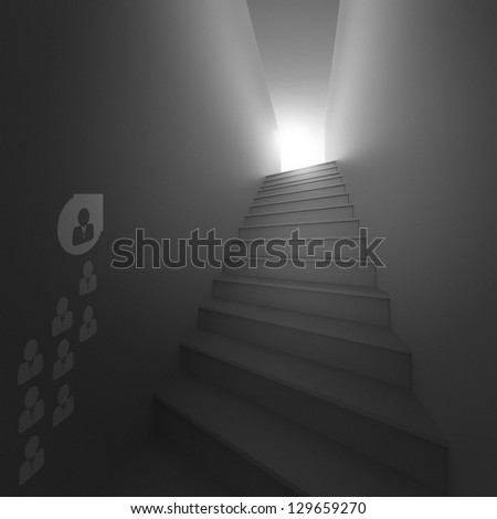 stairway to success as business concept - stock photo