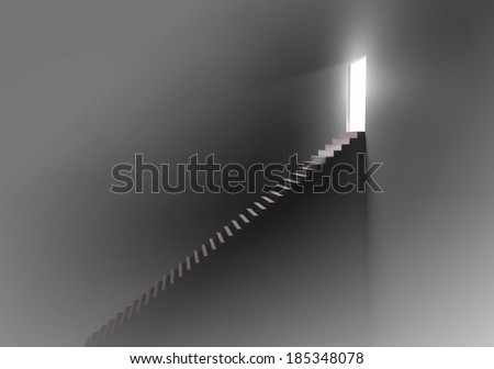 Stairway to the light - stock photo