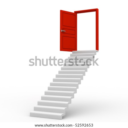 Stairway which leads to success - stock photo