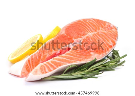 Stake Fish trout - stock photo