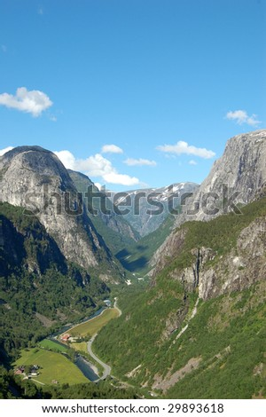 Stalheim, spot of inspiration for many Norwegian painters - stock photo