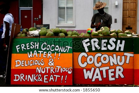 Stall at the Notting Hill Carnival - stock photo