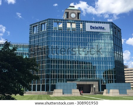 STAMFORD, CT - JUL 23: Deloitte office in Stamford, Connecticut, on July 23, 2015. Deloitte is one of the Big Four professional services firms in the world and the largest by revenue and employees.