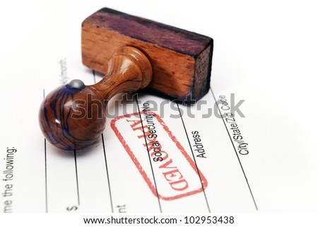 Stamp approved - stock photo