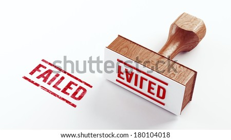 Stamp Concept isolated on white background - stock photo