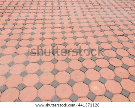Stamp concrete block floor texture pattern background - stock photo