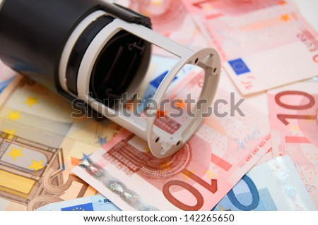 Stamp for euro banknotes.