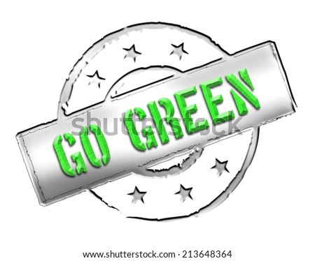 Stamp - GO GREEN - stock photo