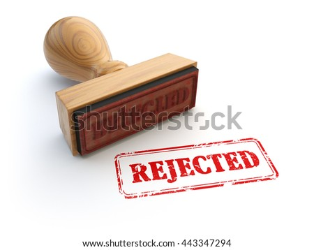 Stamp Rejected isolated on white. Agreement or approval concept. 3d illustration - stock photo