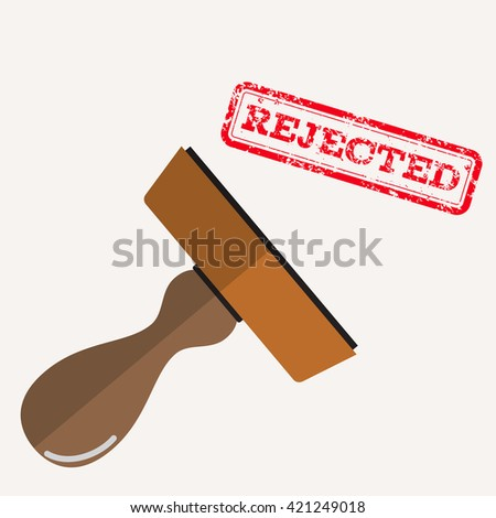 stamp rejected with red text over white background.  illustration in flat design Raster version - stock photo