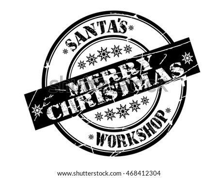 "stamp with text ""Merry Christmas"" isolated on white background. Bitmap"