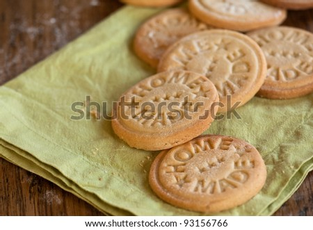Stamped home made cookies - stock photo