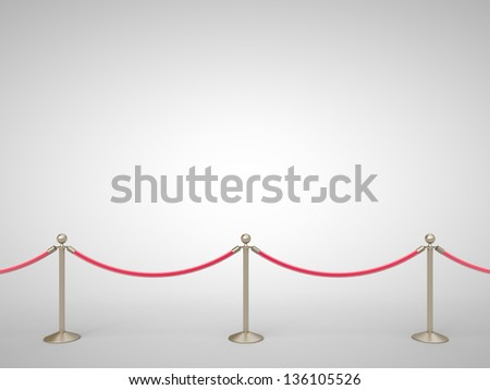 stanchions barrier gray on white