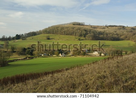 Stancombe Farm and Drakestone Point, Dursley - stock photo