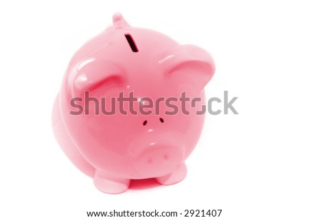stand alone pink piggy bank