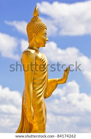 Stand Buddha Statue in Thailand - stock photo