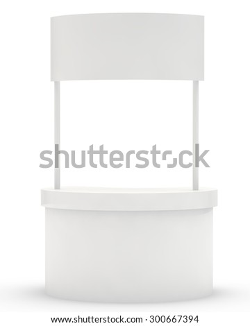 stand for display of advertizing production  - stock photo
