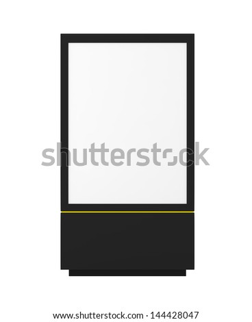 Stand isolated on white - 3d illustration