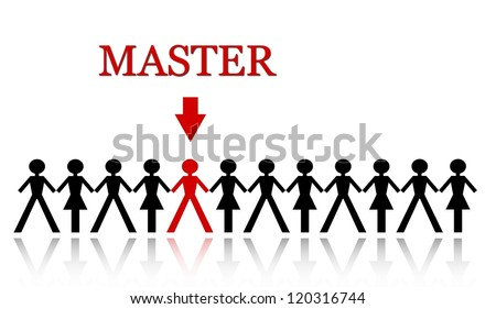 stand out from the crowd, be - stock photo