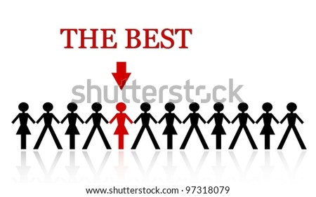stand out from the crowd, be the best - stock photo