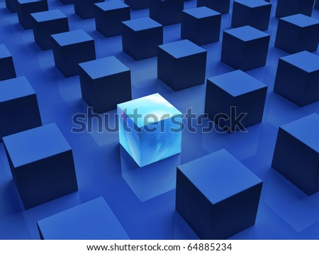 Stand Out from the Crowd, Unique - stock photo